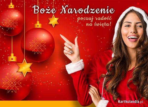 eKartki elektroniczne z tagiem: Bożonarodzeniowe Bombki Poczuj radość na święta!,
