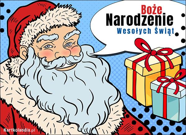 eKartki elektroniczne z tagiem: Bożonarodzeniowe Prezenty Prawdziwy Mikołaj,