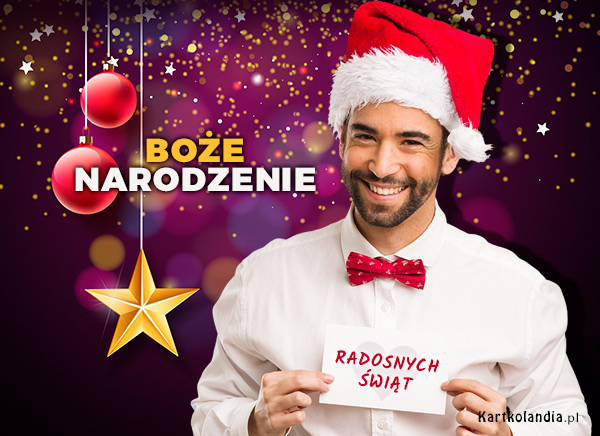 eKartki elektroniczne z tagiem: Bożonarodzeniowe Życzenia Św. Mikołaj składa życzenia,