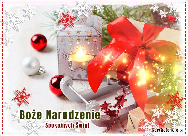 eKartki elektroniczne z tagiem: Bożonarodzeniowy Stroik Świąt Spokojnych i Radosnych,