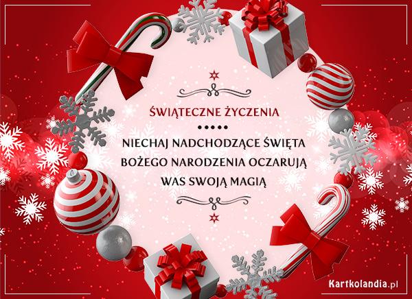 eKartki elektroniczne z tagiem: Bożonarodzeniowe Życzenia Świąteczne życzenia!,
