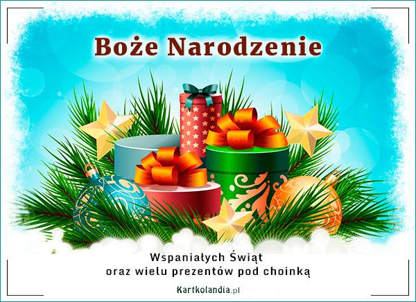 eKartki elektroniczne z tagiem: Bożonarodzeniowy Stroik Wspaniałe święta, wspaniałe prezenty,
