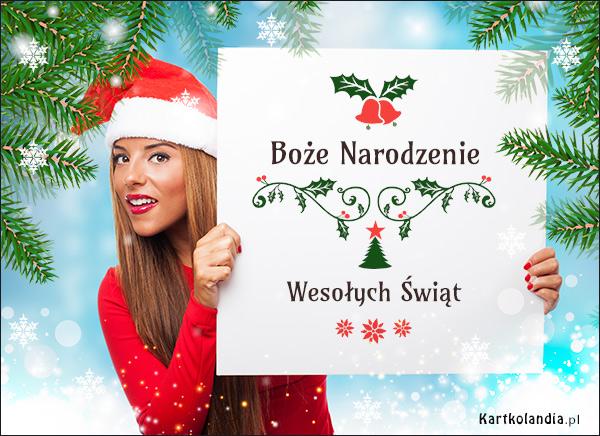 eKartki elektroniczne z tagiem: Bożonarodzeniowe Życzenia Życzenia od Mikołajki!,