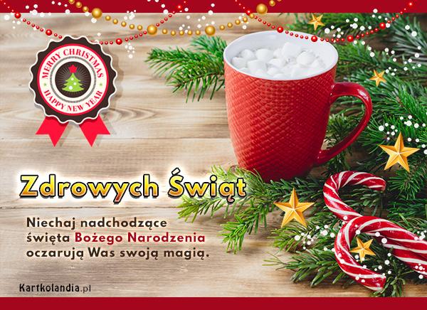 eKartki elektroniczne z tagiem: Kawa Zdrowych Świąt!,