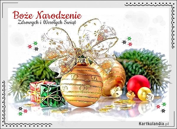 eKartki elektroniczne z tagiem: Bożonarodzeniowy Stroik Złote życzenia świąteczne,