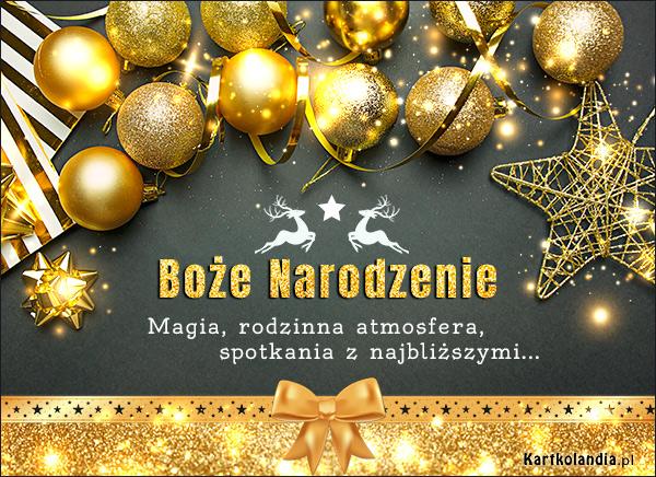 eKartki elektroniczne z tagiem: Bożonarodzeniowe Życzenia Złote Życzenia Świąteczne,