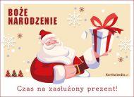 eKartki Boże Narodzenie Czas na zasłużony prezent!,