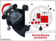 eKartki elektroniczne z tagiem: Bożonarodzeniowe Zwierzęta Gwiazdkowe prezenty,