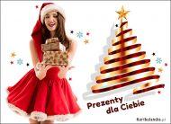 eKartki Boże Narodzenie Mikołajka z prezentami,