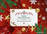 eKartki Boże Narodzenie Mile spędzonych świątecznych chwil!,