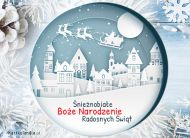 eKartki elektroniczne z tagiem: Kartki na święta Śnieżnobiałe Boże Narodzenie,