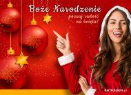eKartki elektroniczne z tagiem: Kartka bożonarodzeniowa Poczuj radość na święta!,