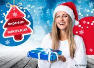 eKartki elektroniczne z tagiem: Kartka bożonarodzeniowa Radosne Mikołajki,