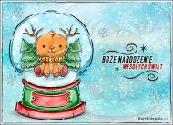 eKartki elektroniczne z tagiem: Kartka bożonarodzeniowa Renifer z życzeniami,
