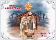 eKartki Boże Narodzenie W betlejemskiej szopce,