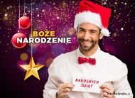 eKartki elektroniczne z tagiem: Kartka bożonarodzeniowa Św. Mikołaj składa życzenia,