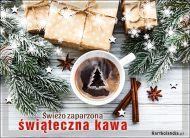 eKartki Boże Narodzenie Świeżo zaparzona świąteczna kawa,