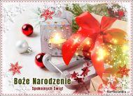 eKartki Boże Narodzenie Świąt Spokojnych i Radosnych,