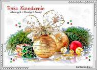 eKartki elektroniczne z tagiem: Kartka bożonarodzeniowa Złote życzenia świąteczne,