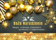 eKartki Boże Narodzenie Złote Życzenia Świąteczne,
