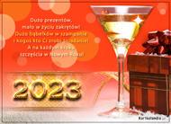 eKartki Nowy Rok Bąbelki w szampanie,