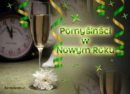 eKartki Nowy Rok Noworoczny szampan,