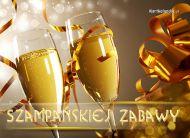 eKartki Nowy Rok Z szampanem w tle,