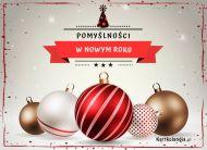 eKartki elektroniczne z tagiem: Darmowa kartka noworoczna Pomyślności w Nowym Roku,
