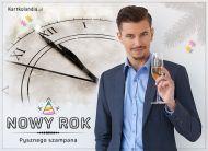 eKartki elektroniczne z tagiem: Darmowa kartka noworoczna Pysznego szampana!,