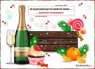 eKartki elektroniczne z tagiem: Darmowa kartka noworoczna W nadchodzącym Nowym Roku,