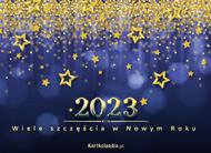 eKartki elektroniczne z tagiem: Darmowa kartka noworoczna Wiele szczęścia w Nowym Roku 2019,