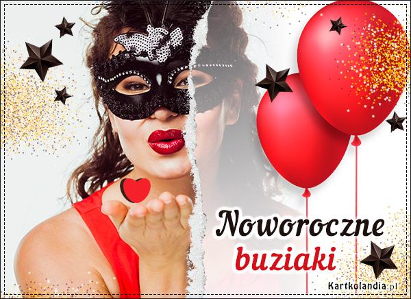 eKartki Nowy Rok Noworoczne buziaki!,