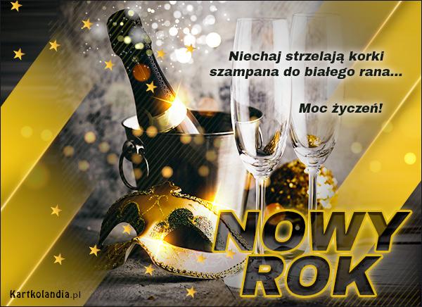 eKartki Nowy Rok Szampański Nowy Rok,