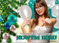 eKartki elektroniczne z tagiem: Kartka Nowy Rok Powodzenia w Nowym Roku,