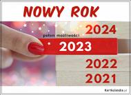 eKartki elektroniczne z tagiem: Kartka Nowy Rok Rok 2020 pełen możliwości,