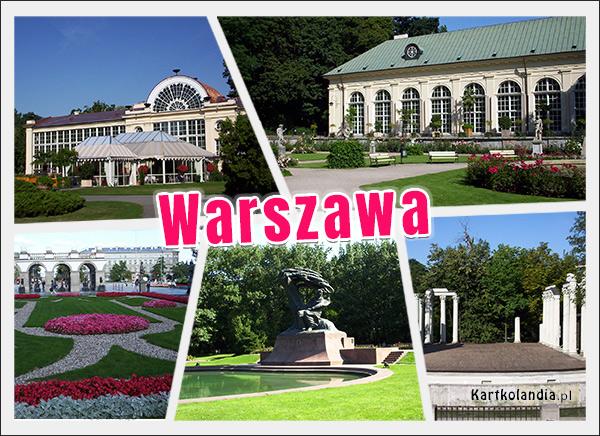 eKartki Państwa, Miasta Warszawa - Łazienki Królewskie,