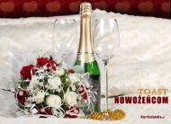 eKartki Ślubne Toast nowożeńcom,
