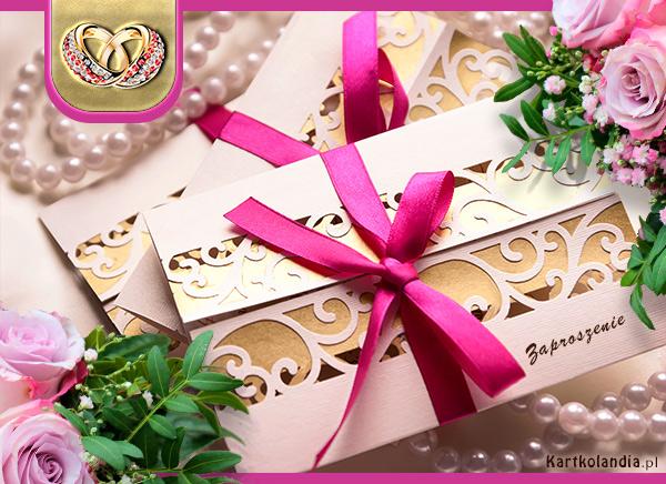 eKartki elektroniczne z tagiem: e-Kartki zaproszenia Zaproszenie z okazji Ślubu,