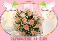 eKartki elektroniczne z tagiem: Kartka na slub Ślubne zaproszenie,