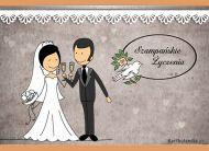 eKartki Ślubne Szampańskie życzenia,