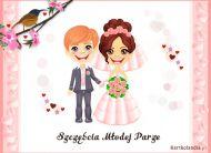 eKartki Ślubne Szczęścia Młodej Parze,