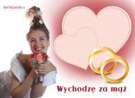 eKartki elektroniczne z tagiem: Kartka na slub Wychodzę za mąż,