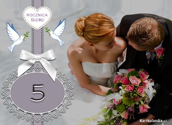 Kartka na 5 Rocznicę Ślubu