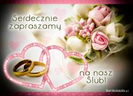 eKartki elektroniczne z tagiem: Kartki ślubne Zaproszenie na nasz Ślub,