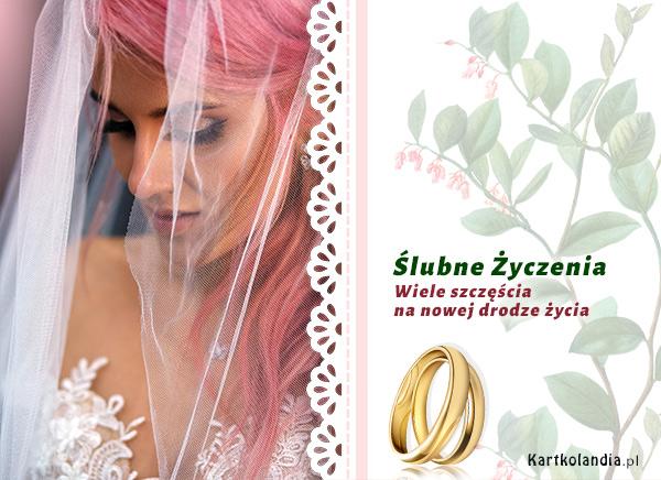 eKartki Ślubne Wiele szczęścia!,