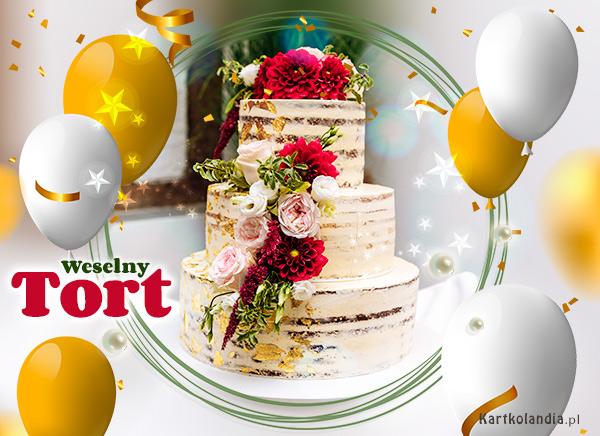 eKartki Ślubne Wyjątkowy weselny tort,