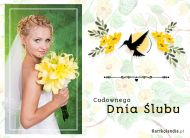 eKartki elektroniczne z tagiem: Para Młodych Cudownego Dnia Ślubu,