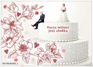 eKartki Ślubne Nasza miłość jest słodka!,