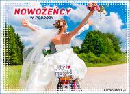 eKartki Ślubne Nowożeńcy w podróży,