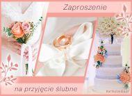 eKartki elektroniczne z tagiem: Darmowe kartki zaproszenia Przyjęcie ślubne,